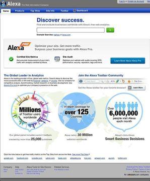 Alexa Internet Screenshot Courtesy of Wikepedia