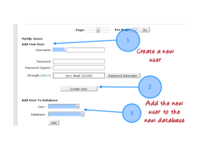 Create a new database user and add the user to a database