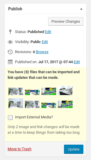 Import External Images Post Editor Metabox