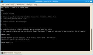 ZEsarUX Linux Installer Interface Screenshot