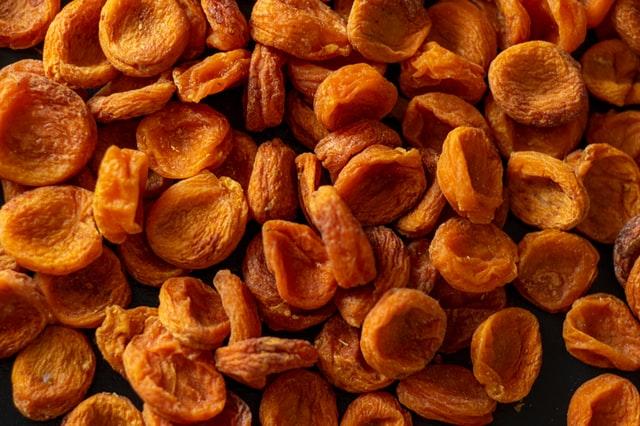 Dried food, iron rich food