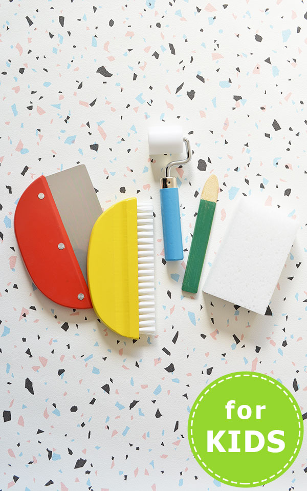 キッズ用壁紙施工道具5点セット