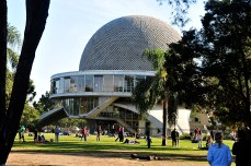 The plaza at the Planetarium was filled with people for the free concert to support the La Plata flood victims