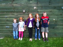 The Porter kids with their new friends - the Korytkowski children.