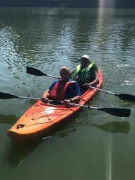 Taking the Holocaust Survivors kayaking