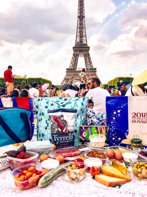 Bastille Day picnic at Eiffel Tower