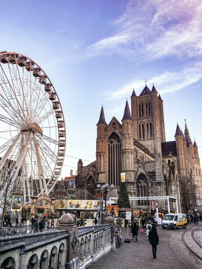 Ferris wheel in Gent, Belgium