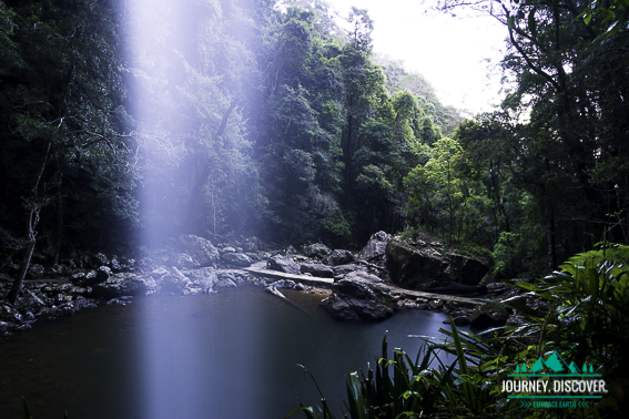 Twin Falls, Springbrook National Park, Gold Coast, Queensland, Australia