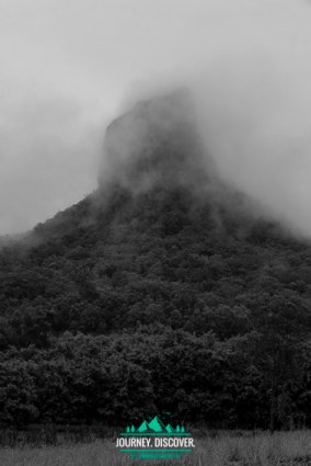 Mt Coonowrin In Fog