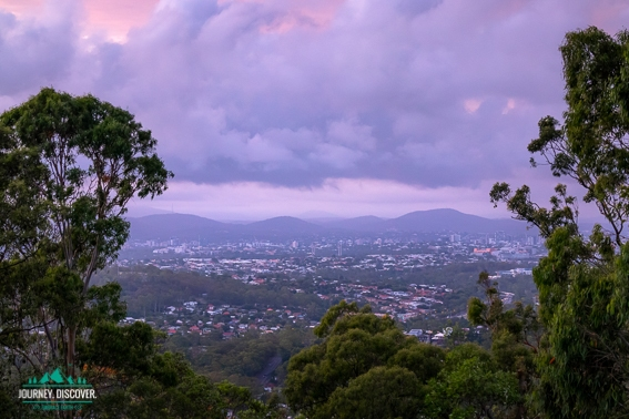 Stormy Sunset Over Brisbane From Mt Gravatt Lookout