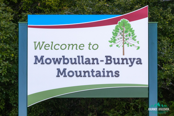 Mowbullan-Bunya Mountains Welcome Sign