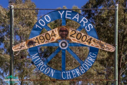 100 Years Murgon - Cherbourg Sign