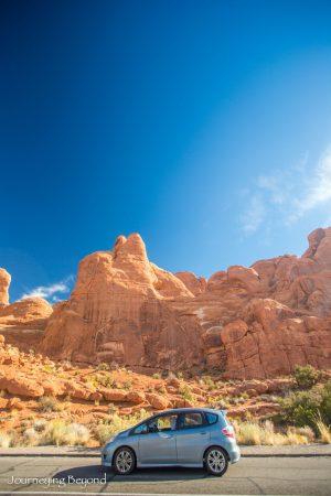 honda-fit-arches-national-park