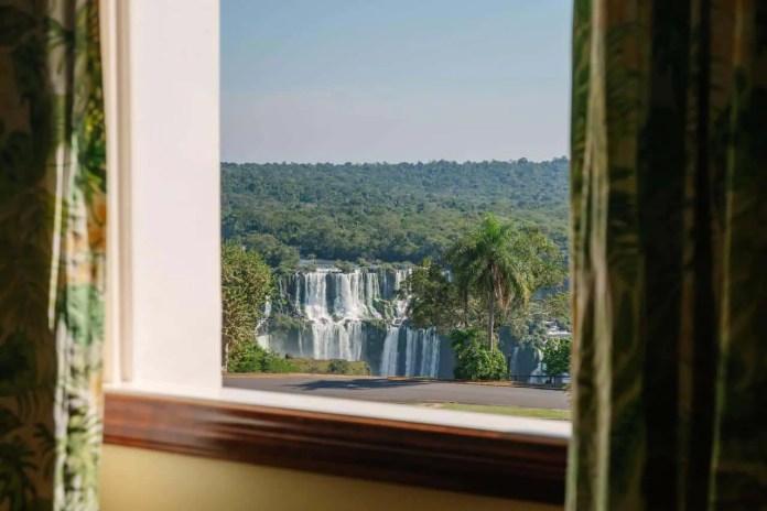 view from hotel in iguazu falls brazil