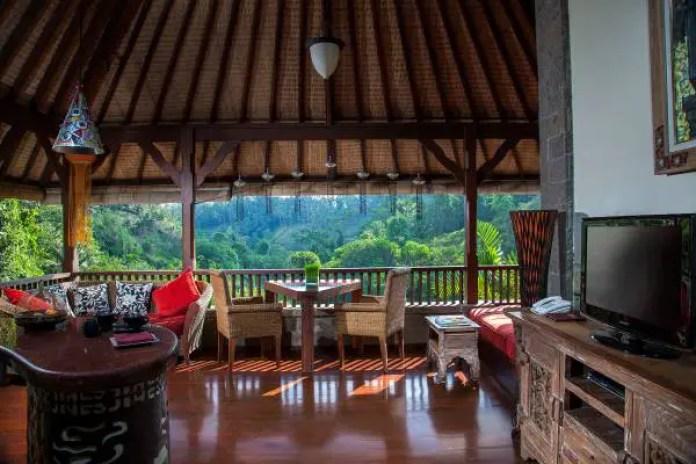 View from the first-floor living area of Bidadari's Romantic Villa