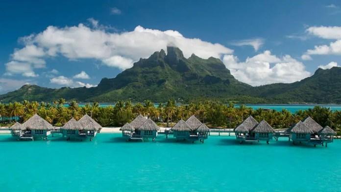 Overwater bungalows at St. Regis Resort, Bora Bora