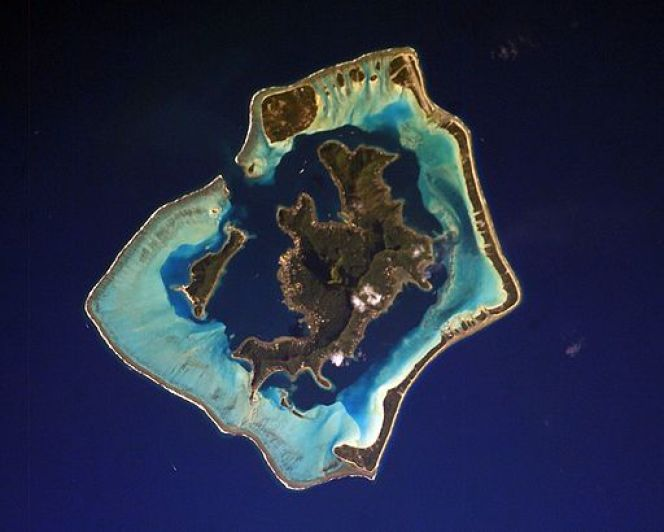 Bora Bora as seen from the International Space Station_