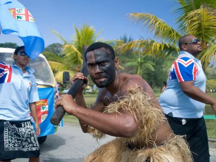 fijian in tribal makeup