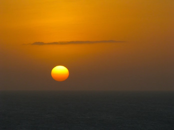 Sunset at Jericoacoara beach