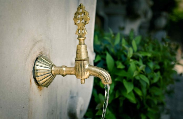 Gold outdoor tap