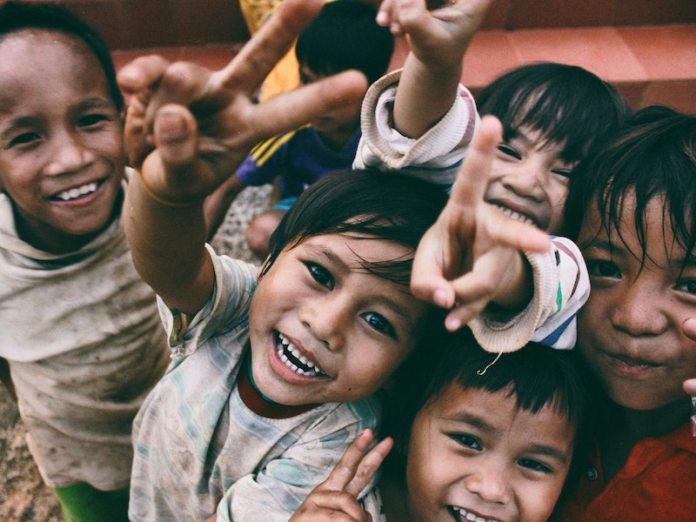 Vietnam children smiling