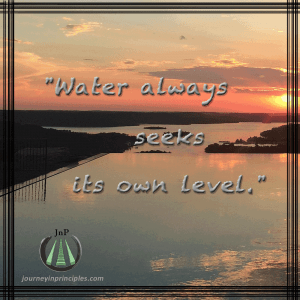 Water seeks its own level.