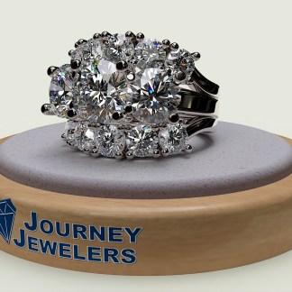 Repurposed engagement ring and wedding set