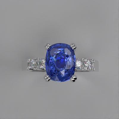 Cushion cut Sapphire engagement