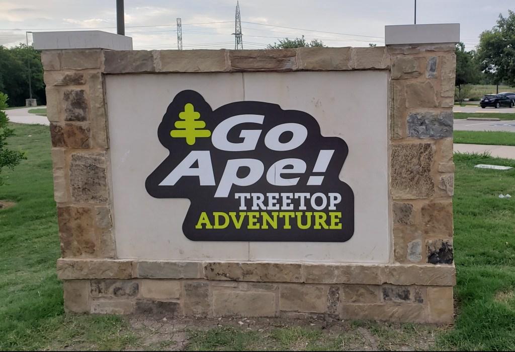 stone encased logo of Go ape treetop adventure
