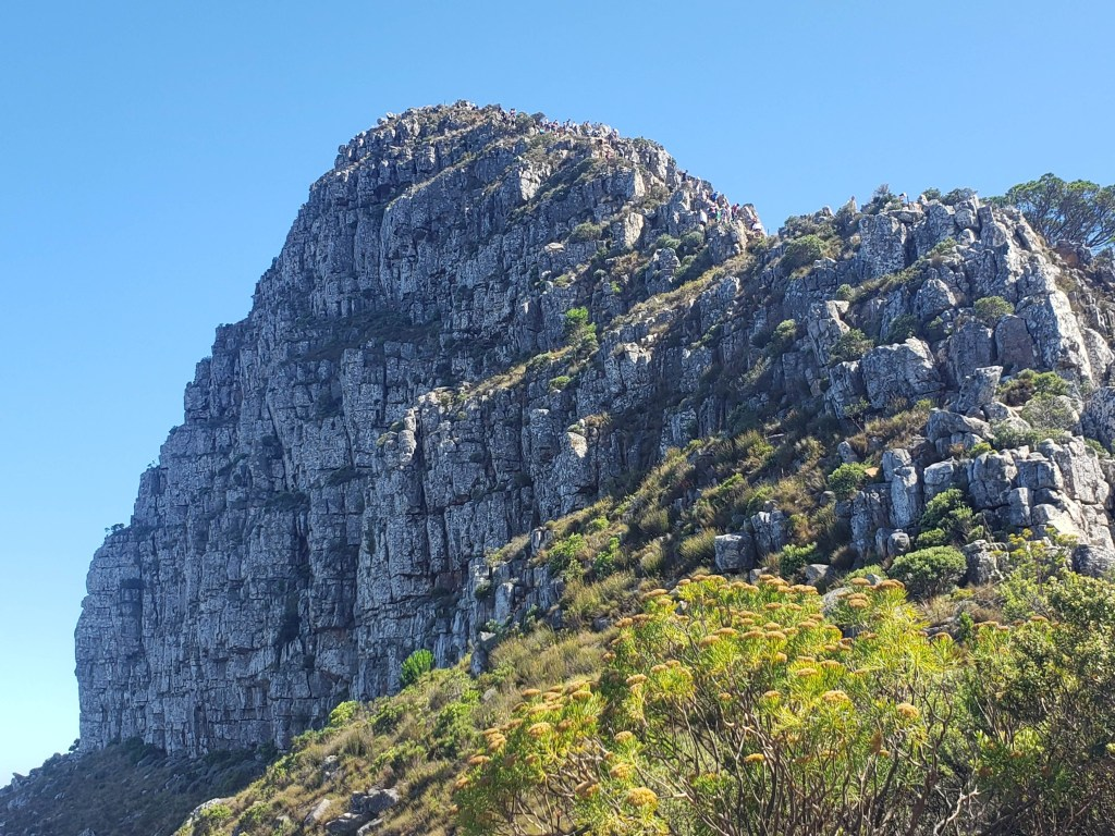 Craggy rock face of Lion's head mountain