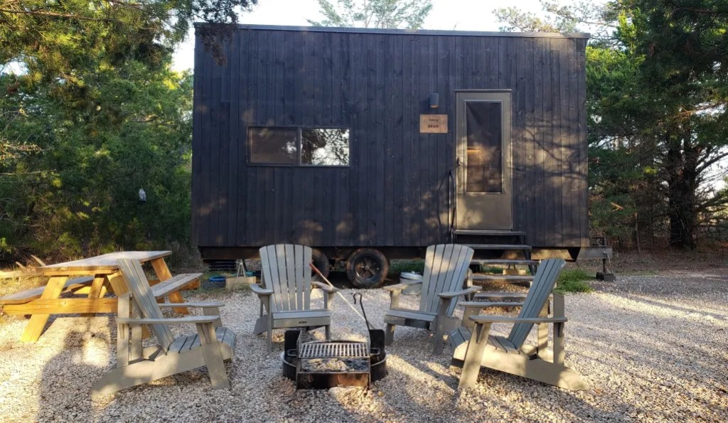 Our Getaway Cabin with the outdoor fire pit