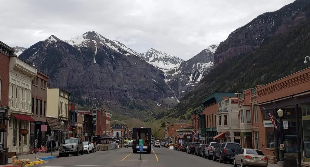 Telluride as seen from Colorado Ave