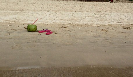 Fresh coconut by the beach
