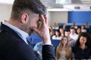 anxious business man