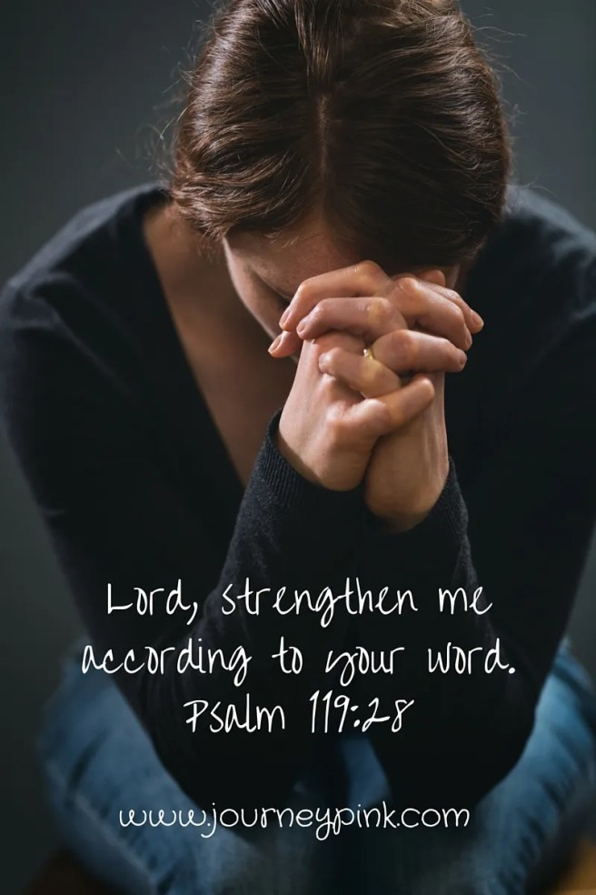 """Lord, strengthen me according to your word""-2"
