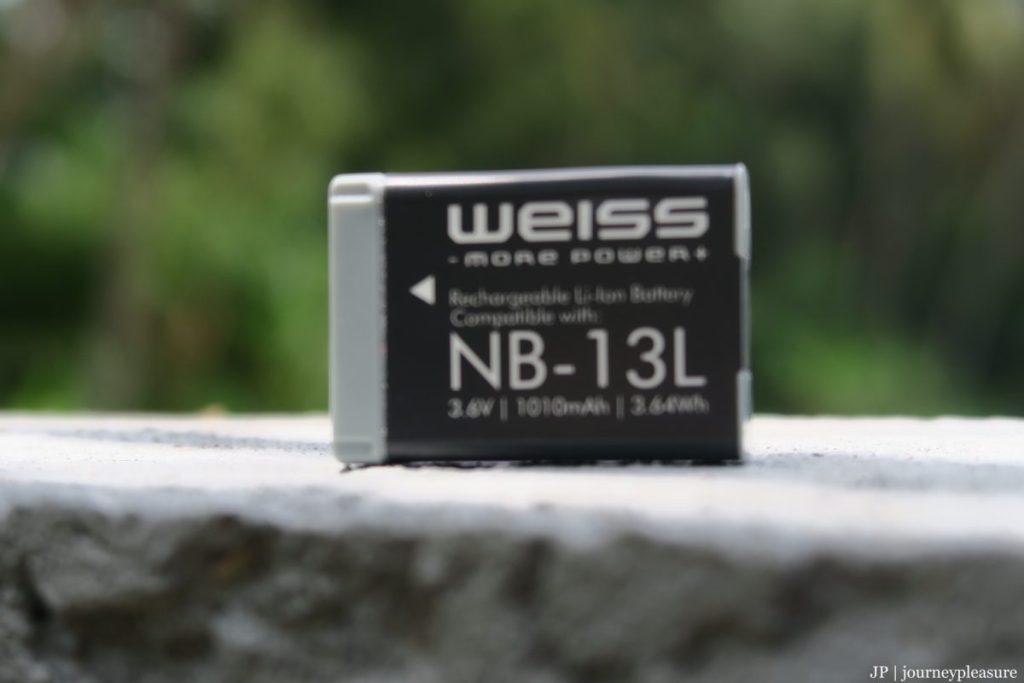 Packliste WEISS Akku für Canon PowerShot G5X