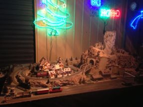 There were no fewer than three shedloads of model trains at the Bowers Road Christmas lights.