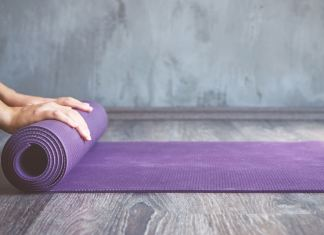 Learn how to clean a yoga mat. Don't make the same mistake I made!