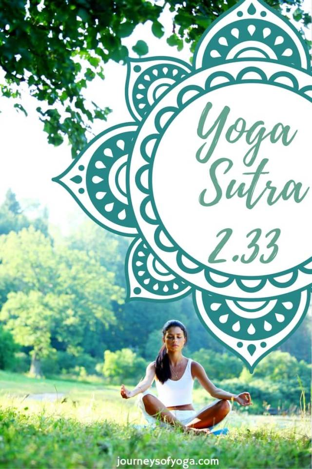 Yoga Sutra 2.33 and the one book I recommend for this sutra.