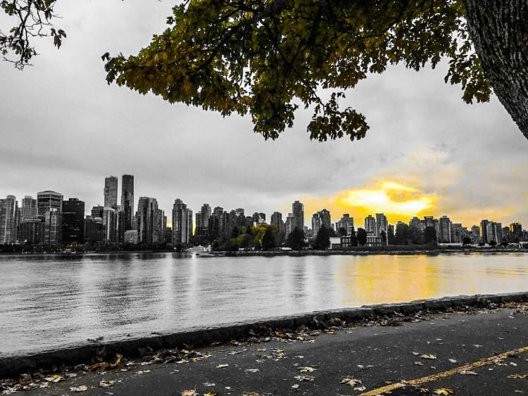 Vancouver sundown city view