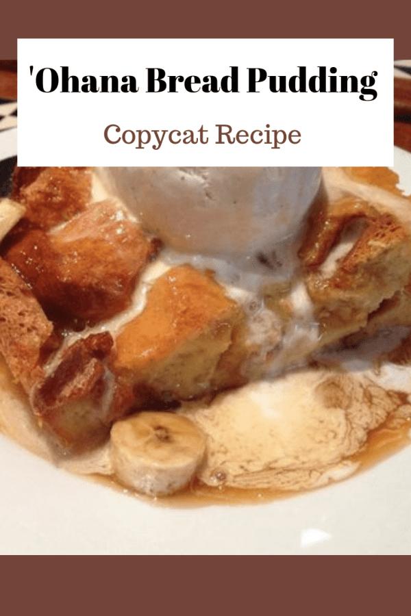 'ohana bread pudding recipe