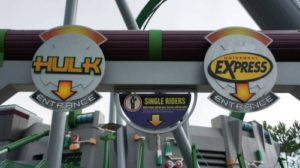 Incredible Hulk Coaster at Universal's Islands of Adventure.