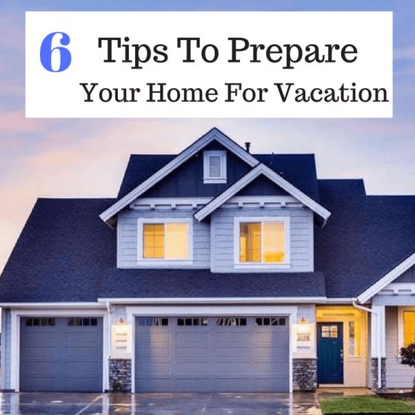 prepare for vacation