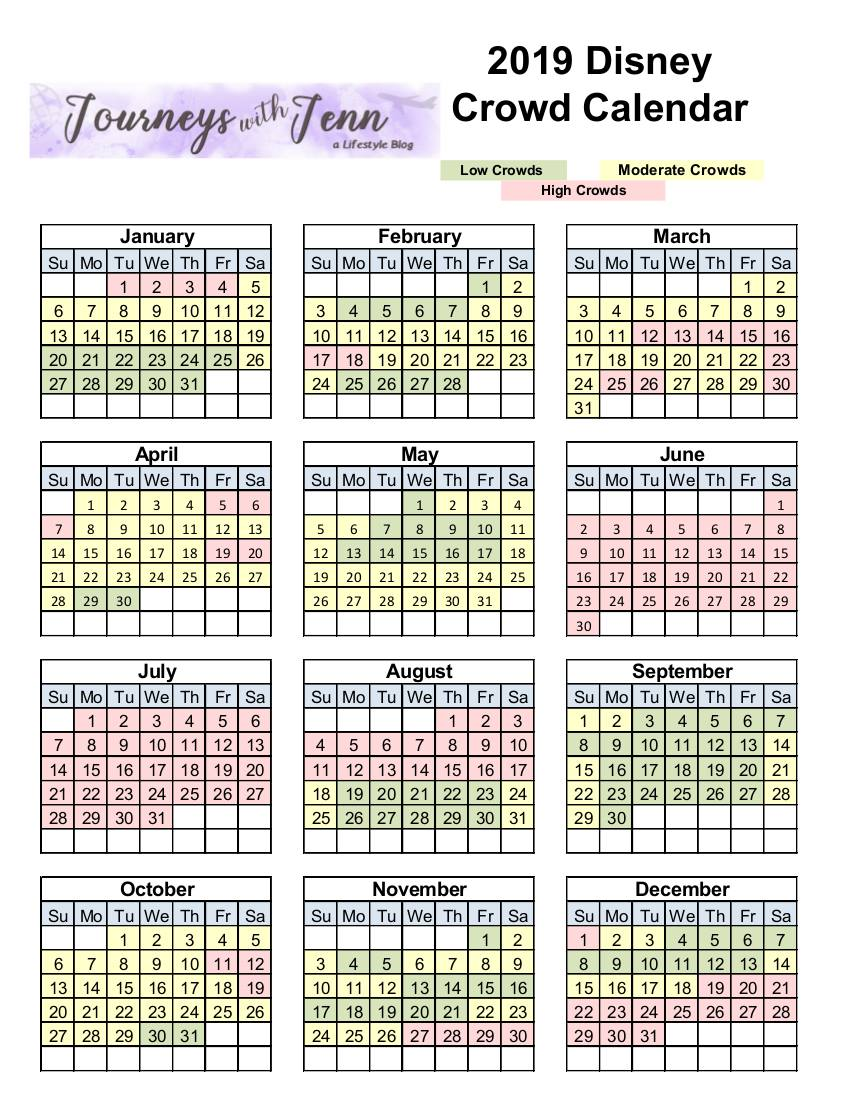 disney world crowd calendar 2019