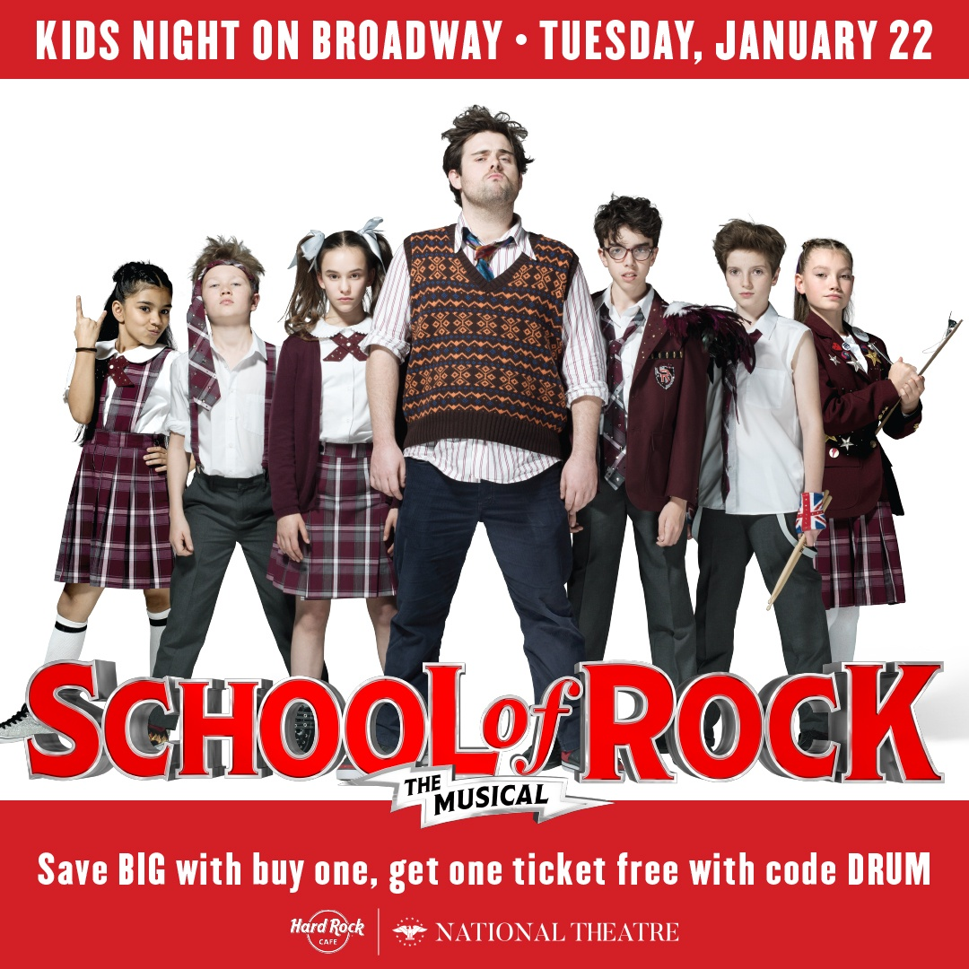 Kids Night On Broadway: National Theater Jan 22