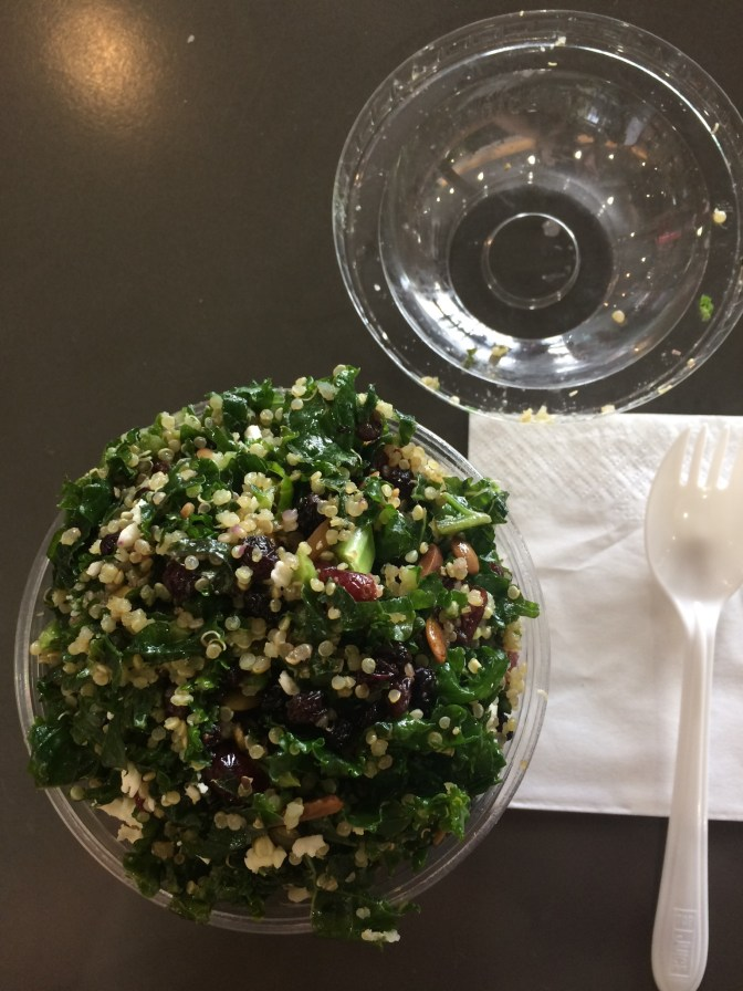 Kale salad from *gasp* the Mall food court