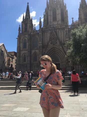 reading the barcelona book in barcelona!