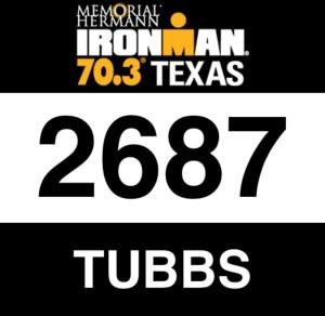 Ironman 70.3 Bib