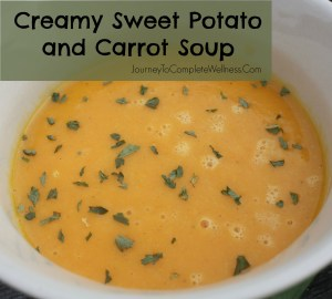 Creamy Sweet Potato and Carrot Soup