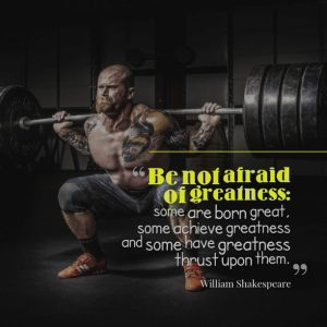 Be not afraid of greatness: some are born great, some achieve greatness and some have greatness thrust upon them. William Shakespeare